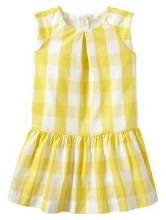75689eb96e82 Large gingham pleated dress (Gap designers have nailed it for Spring /  Summer 2014)