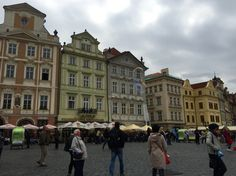 The Prague city center is always full of locals and tourists, admiring the enchanted charm of this Eastern European city. #Prague #charming #crowded
