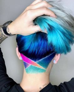 Haare Color full Rainbow Undercut What Did Reagan Know About UFO's Reagan seemed more enthralled wit Undercut Long Hair, Undercut Hairstyles, Pixie Hairstyles, Cool Hairstyles, Undercut Girl, Undercut Ponytail, Undercut Pixie, Pixie Haircuts, Updo Hairstyle