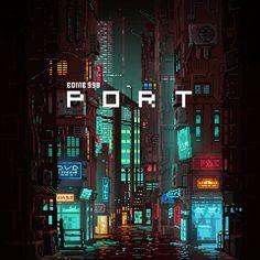 Arte Cyberpunk, Cyberpunk City, Arte 8 Bits, Isometric Art, Pixel Art Games, Trash Art, City Aesthetic, Environment Concept Art, Anime Scenery