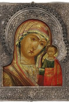 russian online museum of Russian icons Kazan Mother of God Russian Icons, Russian Art, Russian Online, Religious Icons, Religious Art, Byzantine Art, Madonna And Child, Art Icon, Orthodox Icons