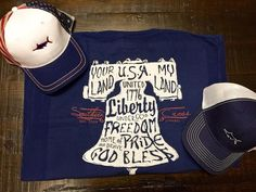 Happy Hope #Chewsday! Hope says to head over to our website and check out our new #summer design Liberty Bell! She says it goes best with our American Flag Mesh Back Hat or our Navy Marlin Athletic Trucker Hat! #southerncrossapparel #southerncrossapparelgirls #libertybell #freedom #instagood