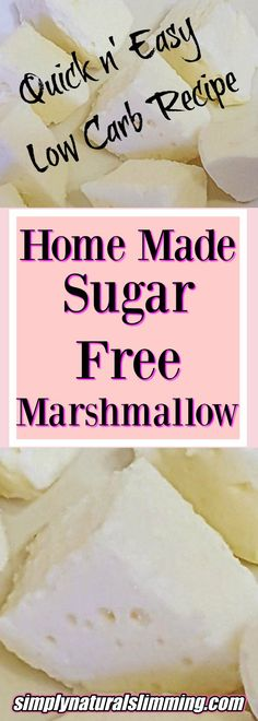 Check out this awesome Sugar free marshmallow recipe! These homemade marshmallows are gluten free, sugar free, low carb and keto friendly. Made in minutes!