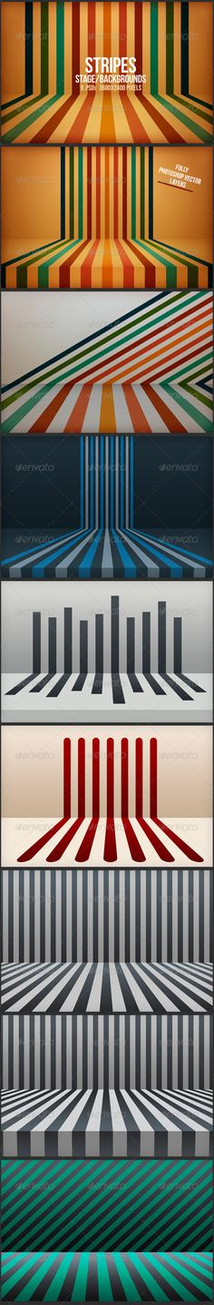 Stripes Stage Backgrounds  - Backgrounds Graphics