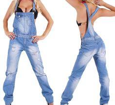 Damen jeans hose latzhose
