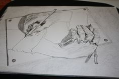 Hand drawing Hand- pencil!