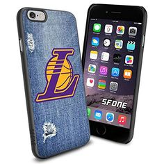 """Los Angeles Lakers Logo Jeans iPhone 6 4.7"""" Case Cover Protector for iPhone 6 TPU Rubber Case SHUMMA http://www.amazon.com/dp/B00VQKZGA2/ref=cm_sw_r_pi_dp_gCYovb0ZYCBT3"""