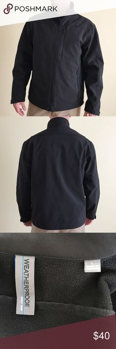 $25 TODAY ONLY  EUC Men's soft shell jacket🙎♂️ Men's black soft shell Weatherproof brand jacket has three front zipper pockets and is in excellent condition.  LET ME KNOW IF YOU ARE INTERESTED, AND I WILL ADJUST THE PRICE FOR REDUCED SHIPPING 😀 Weatherproof Jackets & Coats