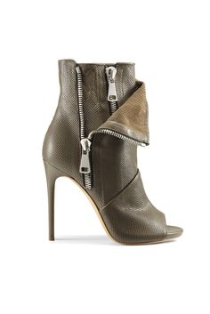 Casadei Resort 2015 Courtesy Photo... Open toe high heel booties with ankle zipper detail