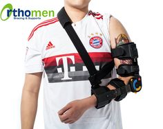 Orthomen ROM Elbow Brace with Sling - Indications: ● Post-operative immobilization or ROM control for the elbow ● Conservative treatment of elbow dislocation or luxation ● Stable or internally fixed fractures of the distal humerus or proximal radius or ulna
