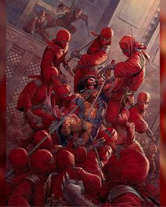 Artist Nisachar created this Wolverine Vs. Ninjas art as part of a tutorial for ImagineFX! Hey Fox can The final wolverine movie be really bloody and rated R? Download at nomoremutants-com.tumblr.com #marvelcomics #Comics #marvel #comicbooks #avengers #captainamericacivilwar #xmen #xmenapocalypse #captainamerica #ironman #thor #hulk #hawkeye #blackwidow #spiderman #inhumans #blackbolt #civilwar #spiderman #infinitygauntlet #blackpanther #guardiansofthegalaxy #deadpool #wolverine #drstrange…