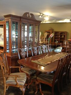 Wood dining set w/10 chairs by newleafgalleries, via Flickr