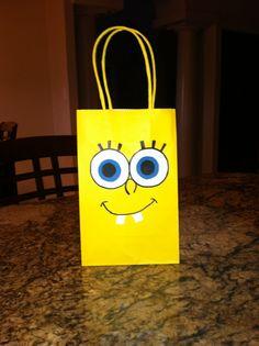 Spongebob birthday party favor bag
