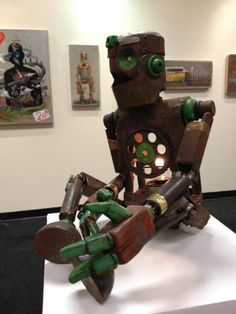 STEEL ROBOT SCULPTURE by PIXELPANCHO STUDIO, via Behance