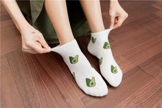 Avocado Sock Set – It's Okay To Be Weird Unique Socks, Put On, One Size Fits All, Avocado, Weird, Women, Fashion, Moda, Outlander