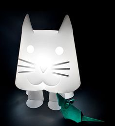 Children's night and reading lights - ZZZoolight - Eastern Inspired Origami Lights for Children and the young at Heart Origami Lights, Kids Lighting, Young At Heart, Like Animals, Night Light, Table Lamp, Shapes, Children, Cats