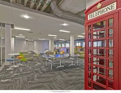 SevOne / Delaware - Phone Booth and Group Work Space. Design by Mitchell Associates.