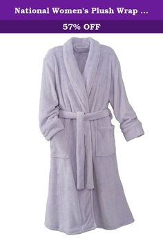 National Women's Plush Wrap Robe, Lavender, One Size. For the ultimate in cuddly comfort, look no further than our Plush Wrap Robe. This beautiful National robe is made for pampering, with a plush, fuzzy feel inside and out. Made of all polyester microfiber plush, this lightweight women's robe is great for home or travel, with a waist tie that ensures the perfect fit. * 100% polyester microfiber* A truly pampering spa robe you won't want to live without* Perfect for chilly mornings or…