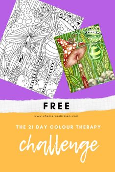 Come get your free daily colour therapy pic for the next 21 days and kick the lockdown boredom to the curb. Great for you and the kids! Colouring Pics, Free Coloring, Adult Coloring, Therapy Ideas, Art Therapy, Fun Art, Cool Art, Colour Therapy, 21 Day Challenge