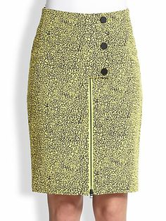 Opening Ceremony - Crackle Jacquard Zip-Front Skirt - Saks.com