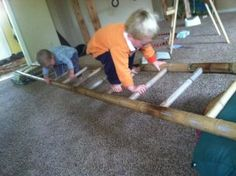 Use a ladder to make a balance beam and for all kinds of play!
