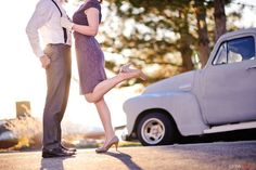Image result for 50's engagement shoot
