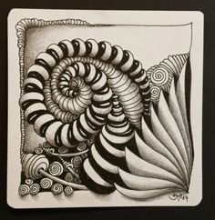 Zentangle tile from Switzerland's newly minted (June 2014)  czt,