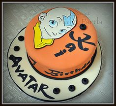 Avatar the Last Airbender Cake Avatar Aang, Avatar The Last Airbender, Avatar Movie, Team Avatar, Pretty Cakes, Beautiful Cakes, Amazing Cakes, Anime Cake, Cricut Cake