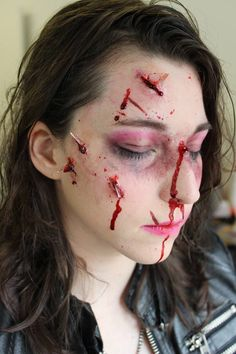 (1) Car accident injuries - Glamour makeup that's been distressed - Album on…