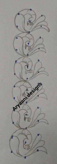 Source by padmaakshintala. Simple Rangoli Border Designs, Easy Rangoli Designs Diwali, Rangoli Designs Flower, Rangoli Borders, Small Rangoli Design, Rangoli Designs With Dots, Mehndi Art Designs, Beautiful Rangoli Designs, Simple Embroidery