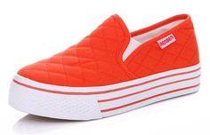 Pedal Platform Low Casual Canvas Shoes 6 Colors