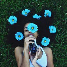 flores e grama