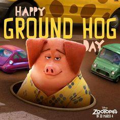 "Walt Disney Animation Studios' ""Zootopia,"" a comedy-adventure opens in theaters on March Disney Parks, Disney Pixar, Officer Judy Hopps, Happy Groundhog Day, Disney Artists, Walt Disney Animation Studios, Best Disney Movies, Happy Day, Ground Hog"