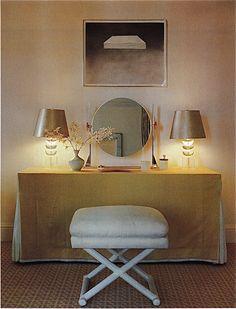 1970's skirted vanity