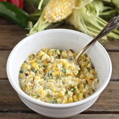 Jalapeño Creamed Corn - The Hopeless Housewife®