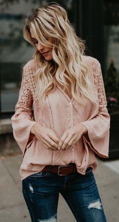 the blush shade blouse