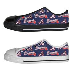 Cute Atlanta Braves Vneck Tee, Atlanta Braves Converse Shoes
