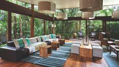 Guest lounge at Arajilla Retreat, which has 12 suites and an ayurvedic spa.
