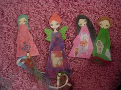Paper Dolls Laminated Bookmarks with ribbonsno6NEW by eltsamp, $15.00