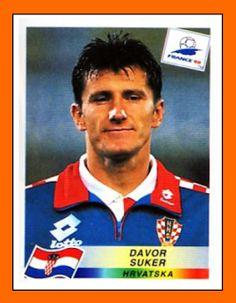 Davor Suker, Croácia. Figurinha da Copa do Mundo da França em 1998.