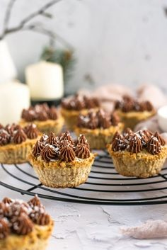 Kókuszos minitorta recept Donuts, Muffins, Sweets, Cupcakes, Cookies, Chocolate, Christmas, Recipes, Foods