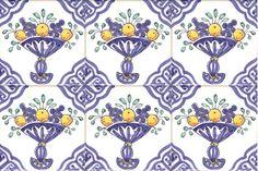 Delft fruit bowl tiles