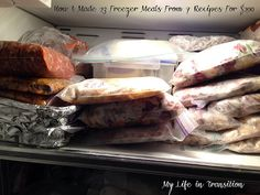 freezer meals: My Life in Transition