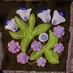 susis quilts: the wool quilt: row six