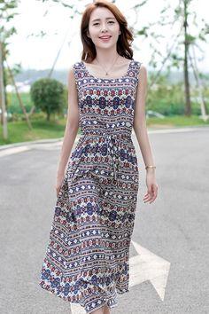 Essential Retro Midi Dress - OASAP.com