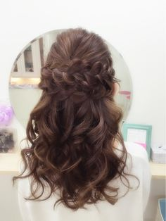 Hairset Salon Pinky 【ピンキー】 Pinky☆編み込みあれんじハーフアップ