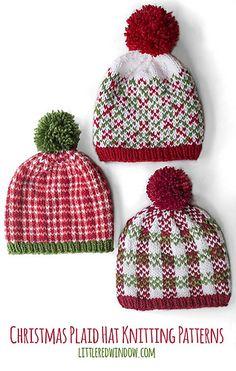 8ea3de67c1e Christmas Plaid Hat Knitting Patterns - patterns