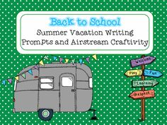 Fun, funky foldable Airstream writing craftivity. Great for beginning of the year and classroom decor. ($)