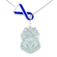 Police Ribbon Necklace
