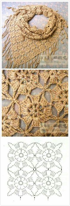 Pretty Join As You Go Square - crochet lace motif